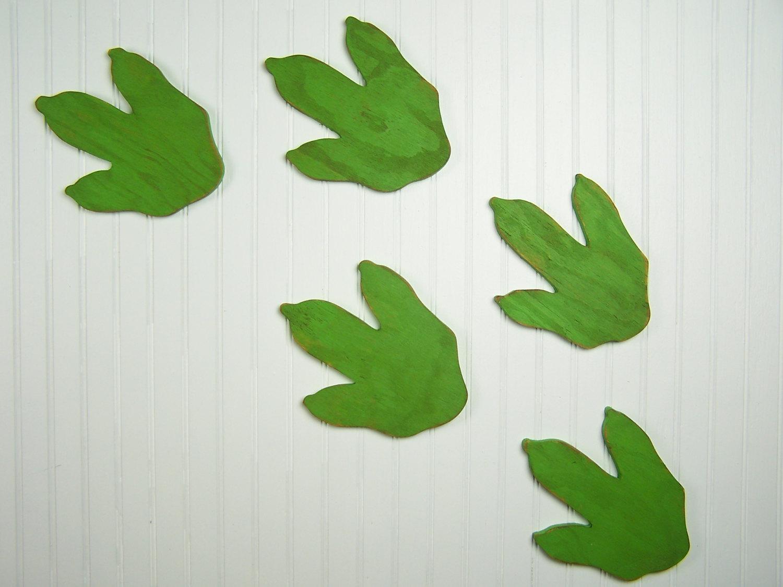 Dinosaur Decor Wooden Dinosaur Footprints Dinosaur Nursery For Dinosaur Wall Art For Kids (Image 9 of 20)