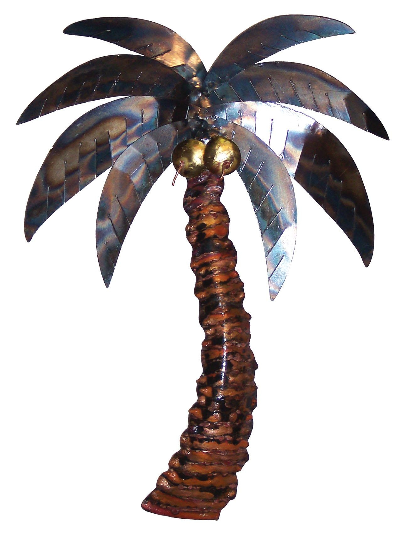 Discount Tropical And Whimsical Palm Tree Collectibles With Palm Tree Metal Art (Image 7 of 20)