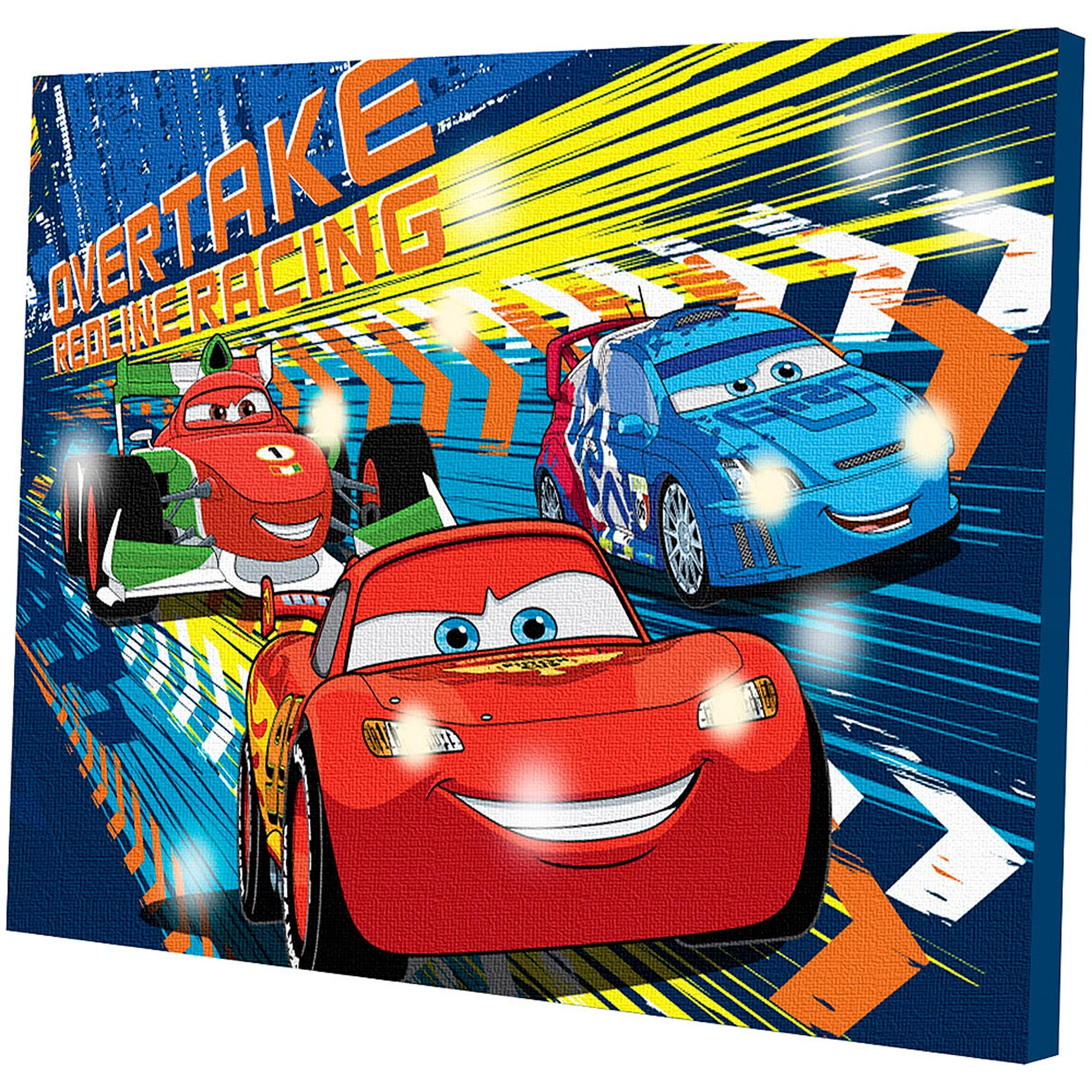 Disney Cars Light Up Canvas Wall Art With Bonus Led Lights With Regard To Disney Canvas Wall Art (View 6 of 20)