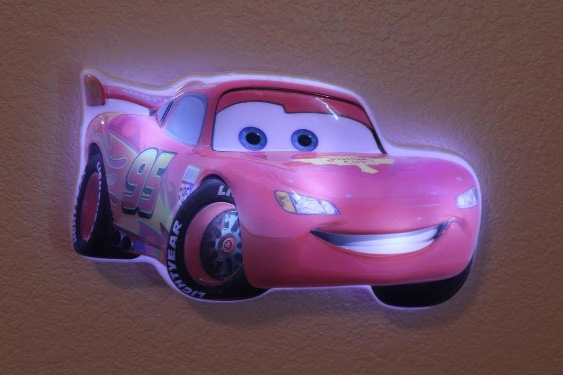 Disney Cars Lightning Mcqueen Wall Friends Light Up Talking Night For Lightning Mcqueen Wall Art (Image 7 of 20)