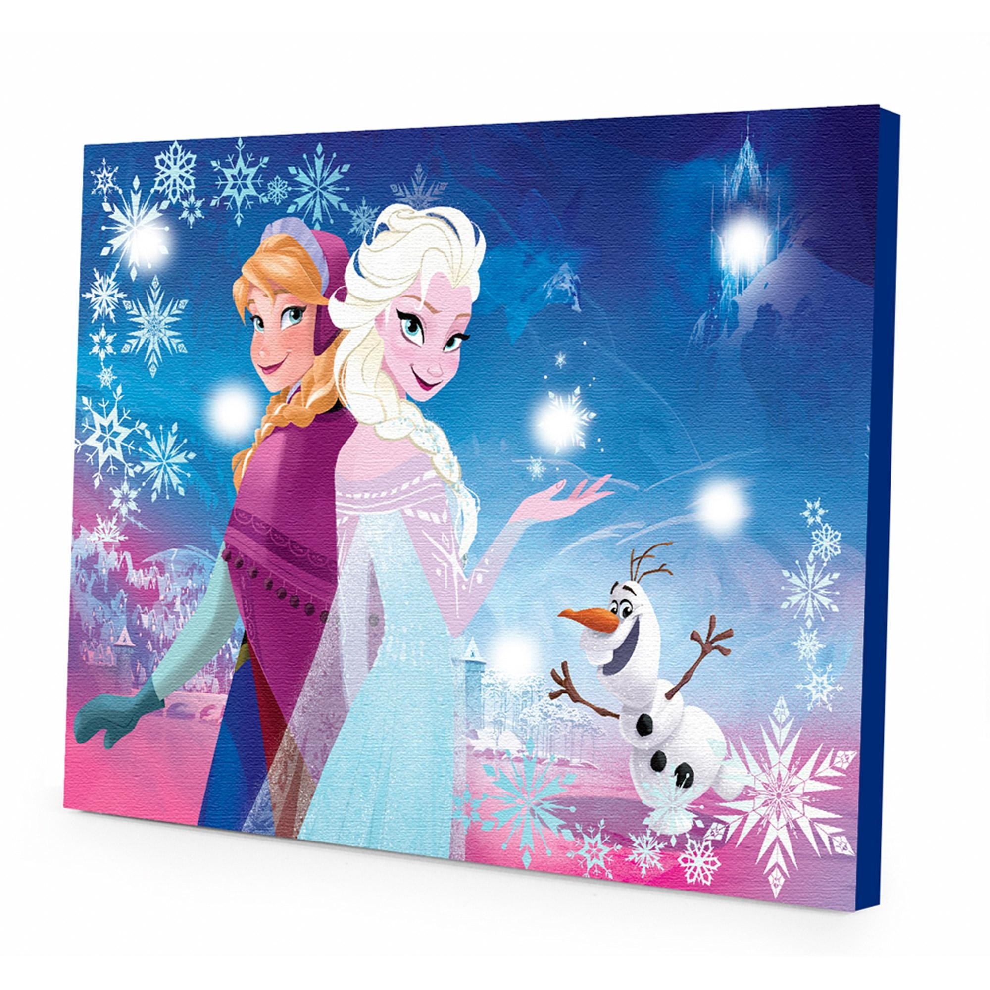 Disney Frozen Light Up Canvas Wall Art With Bonus Led Lights Throughout Girls Canvas Wall Art (View 19 of 20)