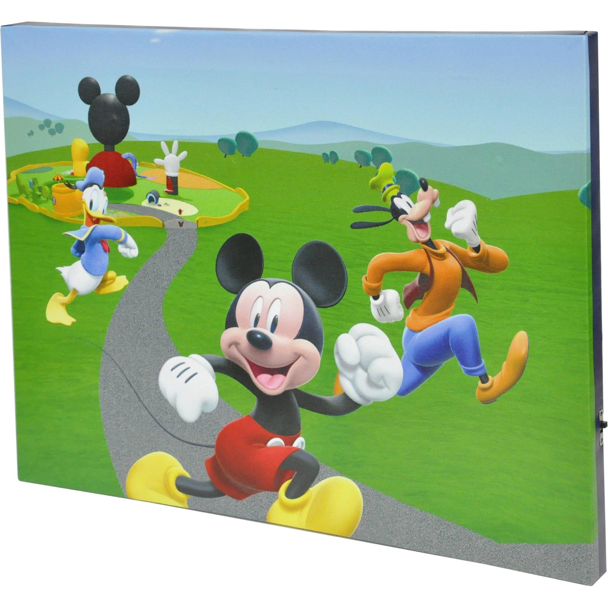 Disney Mickey Mouse Clubhouse Led Light Up Canvas Wall Art Pertaining To Mickey Mouse Clubhouse Wall Art (Image 6 of 20)