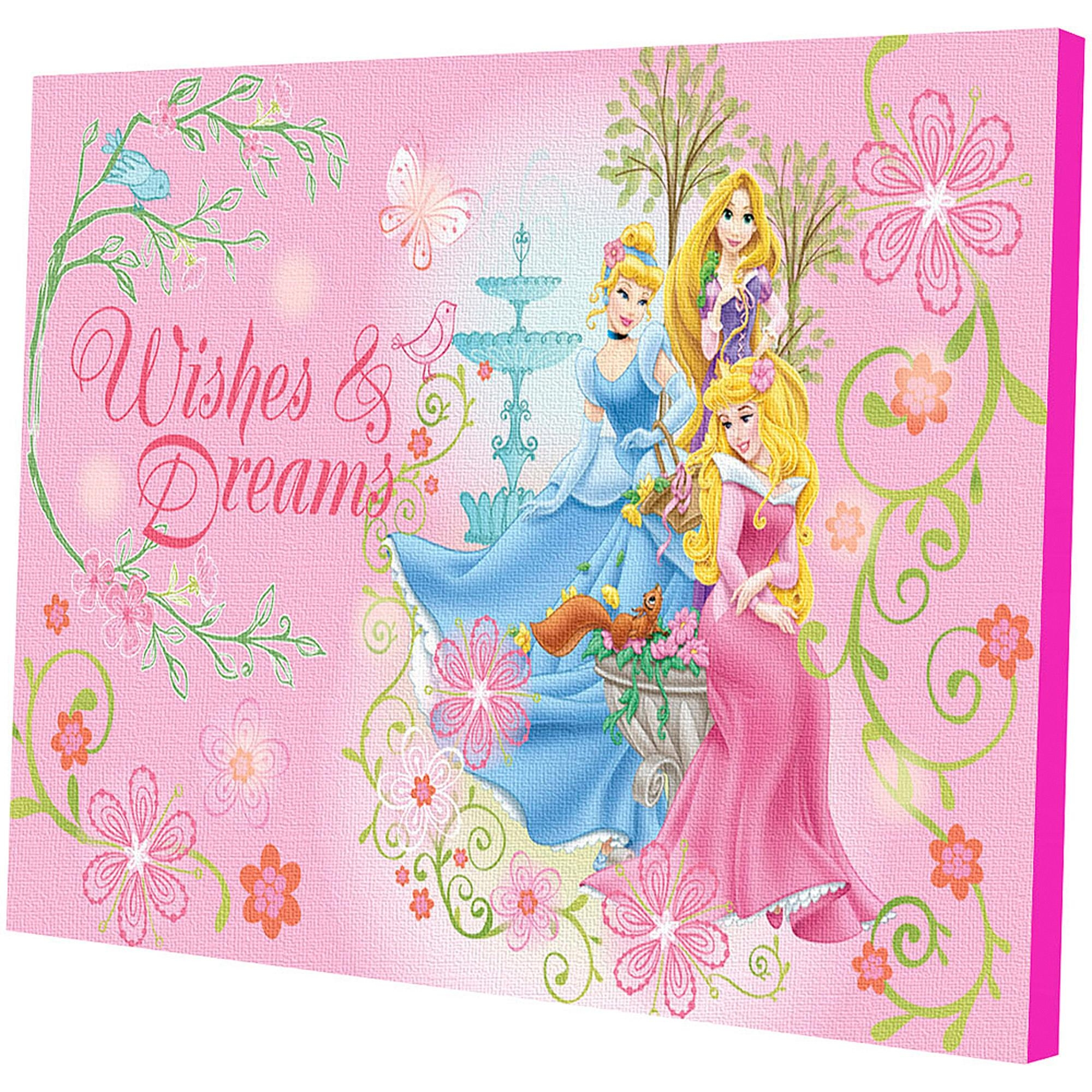 Disney Princess Led Light Up Canvas Wall Art – Walmart With Regard To Girls Canvas Wall Art (View 10 of 20)