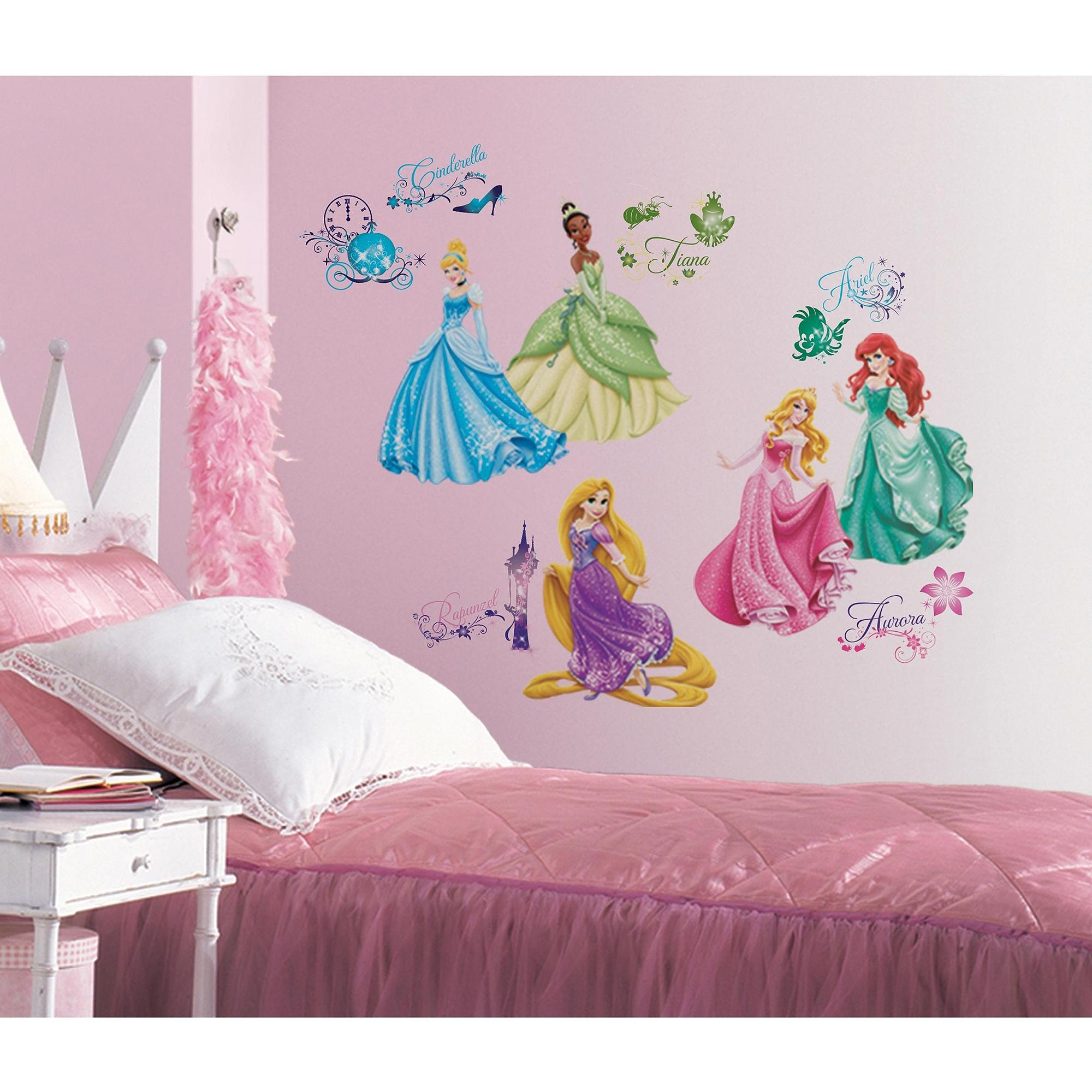 Disney Princess Royal Debut Peel And Stick Wall Decals – Walmart Inside Walmart Wall Stickers (Image 6 of 20)