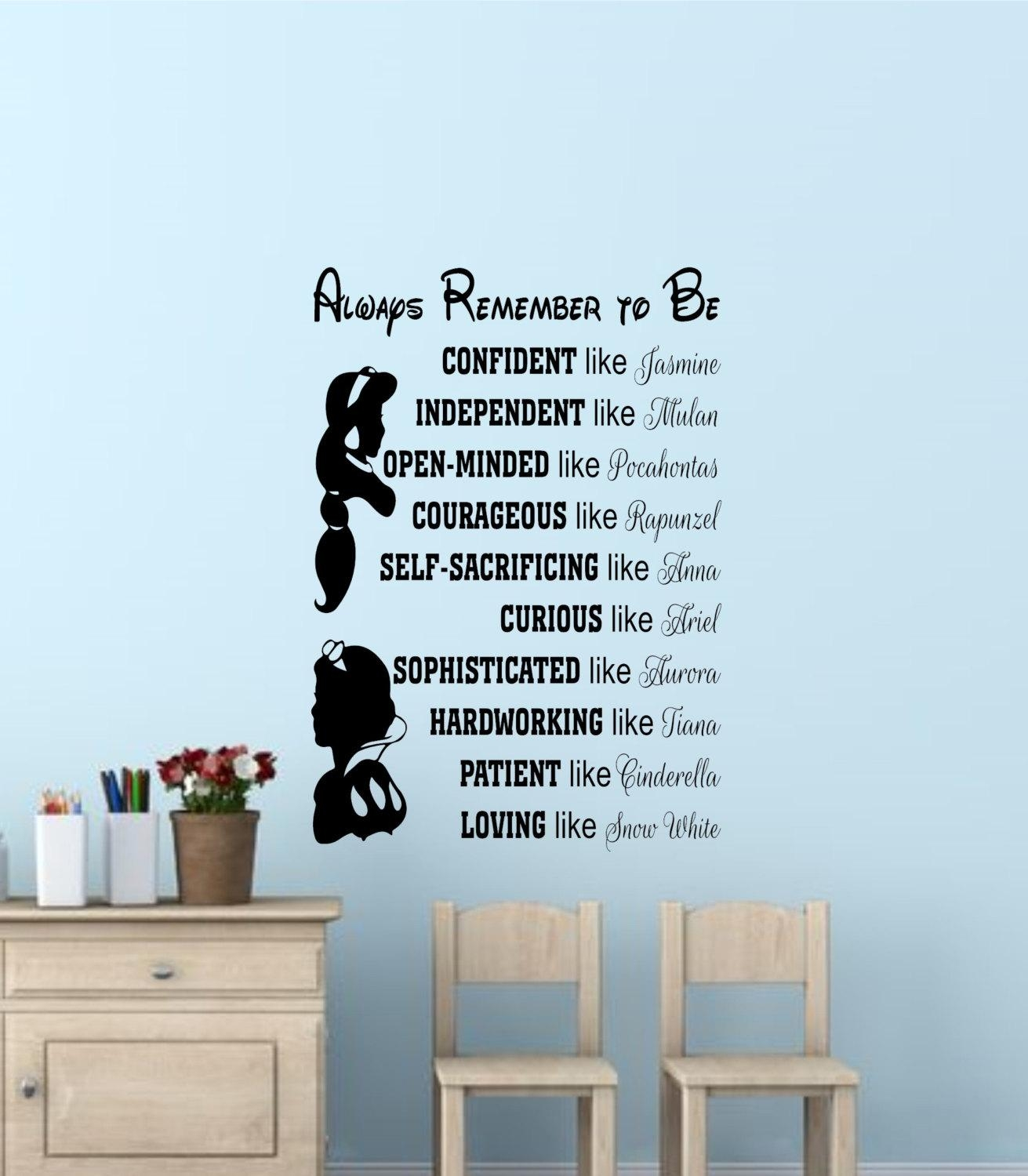 Disney Princess Wall Quotes Disney Signs Disney Princess Wall Inside Disney Princess Wall Art (Image 11 of 20)
