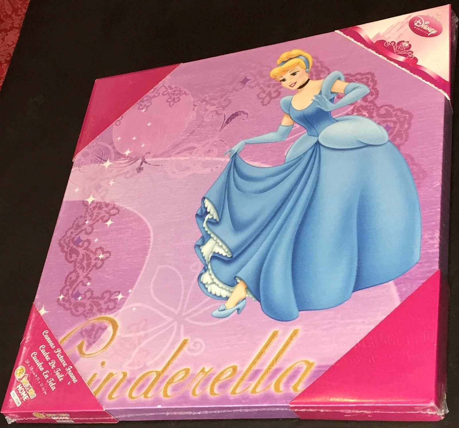 Disney's Princess Cinderella Decorative Wall Art Canvas Pertaining To Princess Canvas Wall Art (Image 11 of 20)