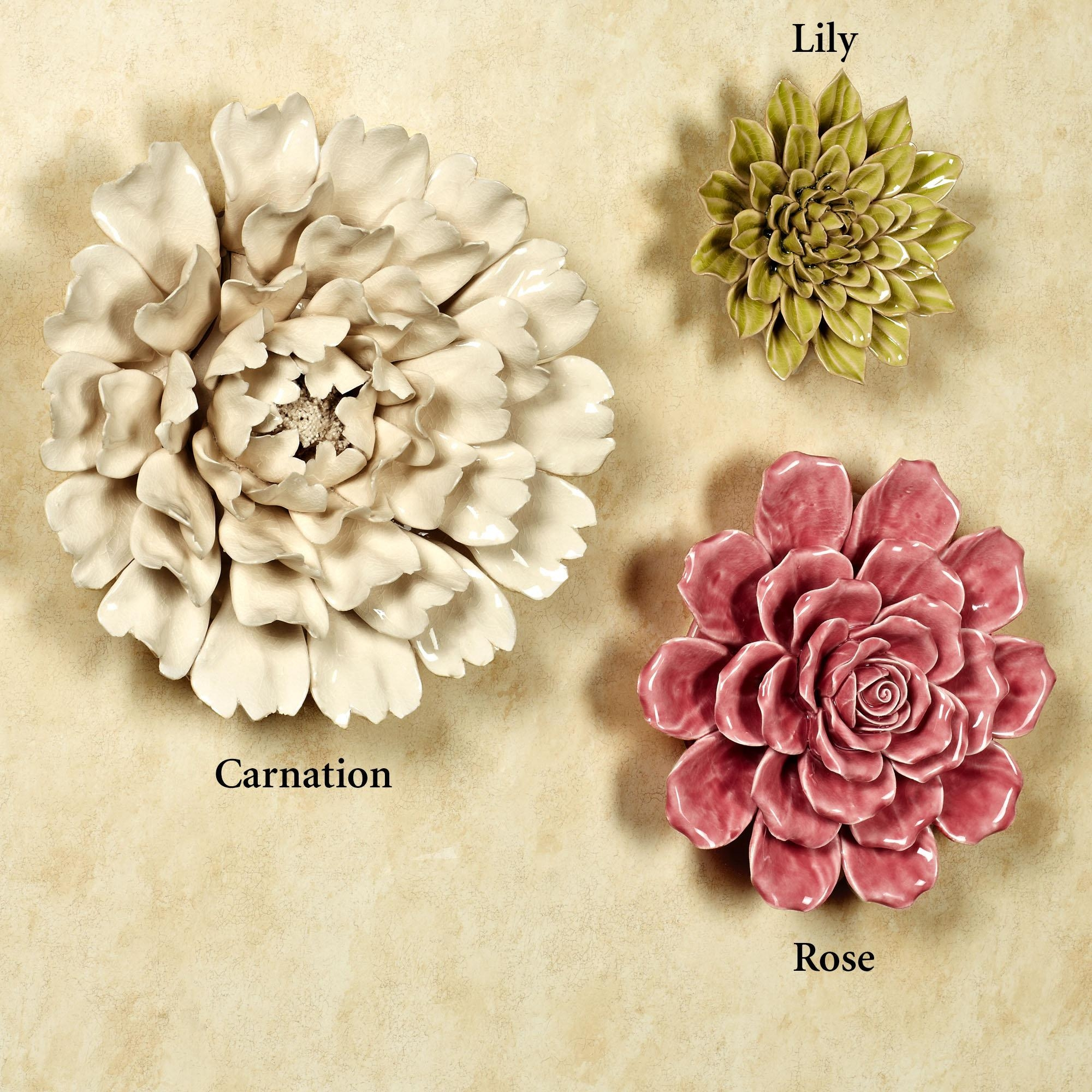 Wall Art Ideas: Ceramic Flower Wall Art (Explore #2 of 20 Photos)