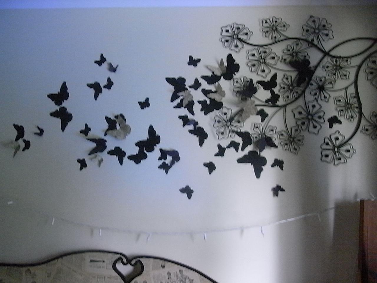 Diy 3D Wall Art Butterflies | Wallartideas Pertaining To Butterflies 3D Wall Art (Image 11 of 20)