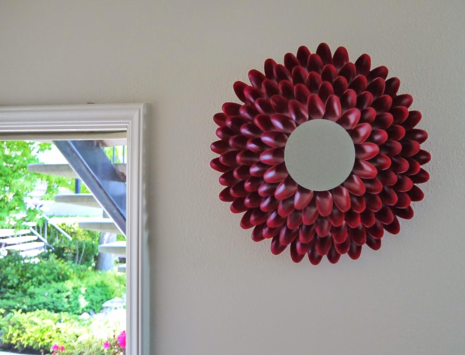 Diy Addiction: Mirror Wall Art – Chrysanthemum Flower Within Diy Mirror Wall Art (Image 7 of 20)