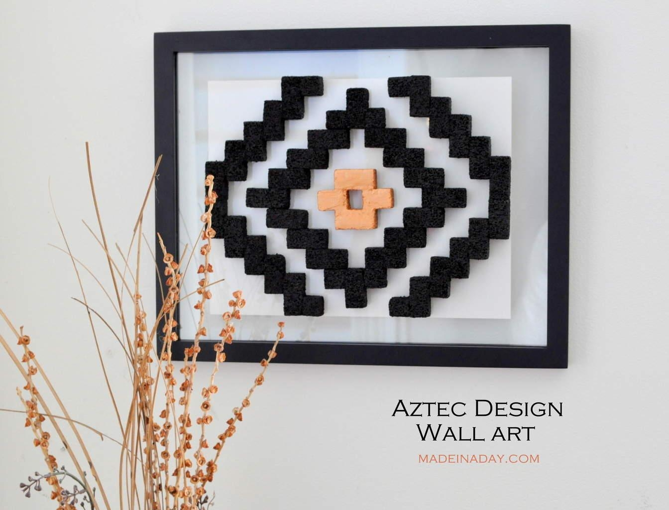 Diy Aztec Pattern Wall Art | Made In A Day Intended For Pattern Wall Art (Image 10 of 20)