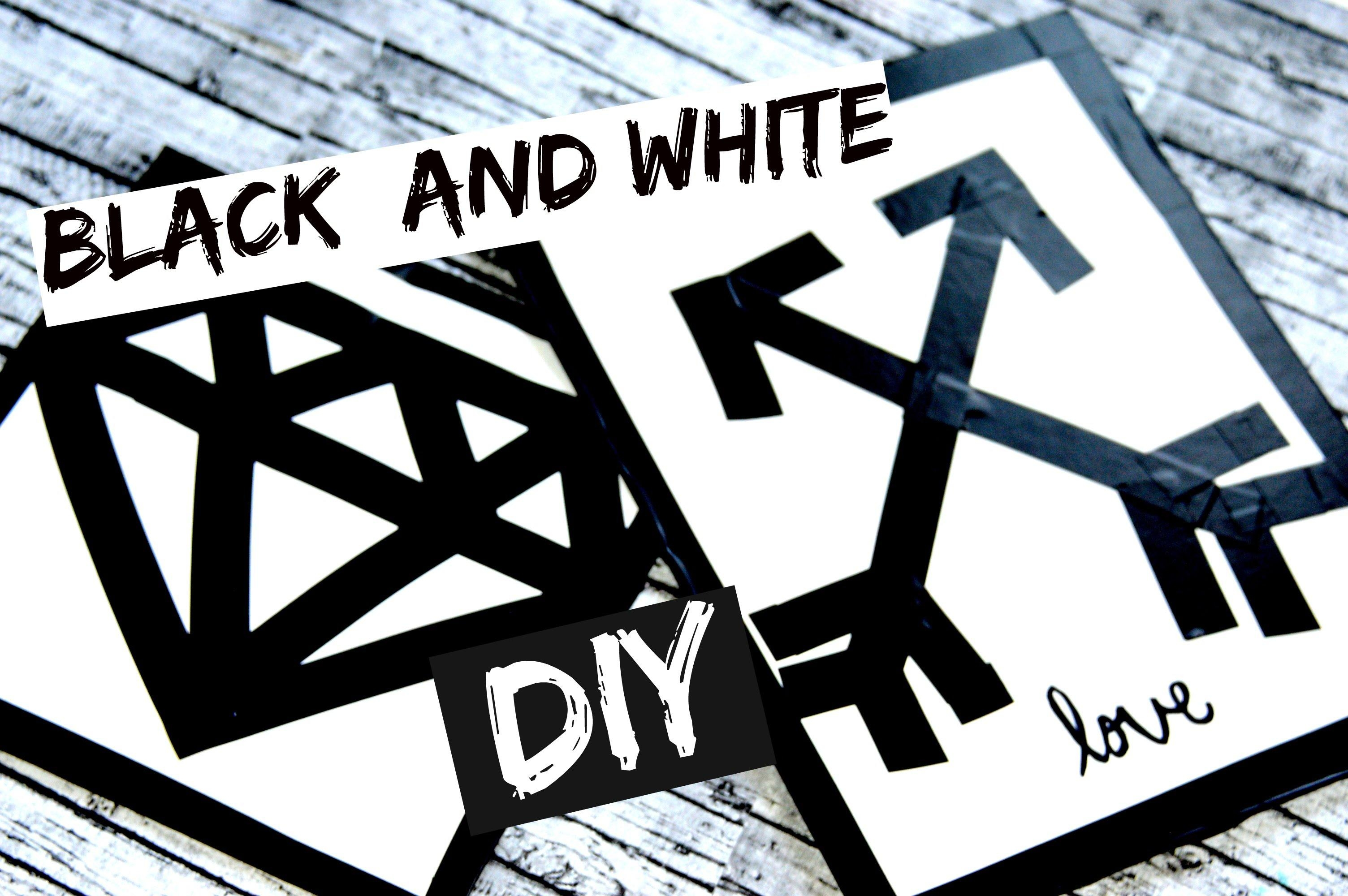 Diy Black And White Wall Art! – Youtube Inside Black And White Wall Art (Image 12 of 20)