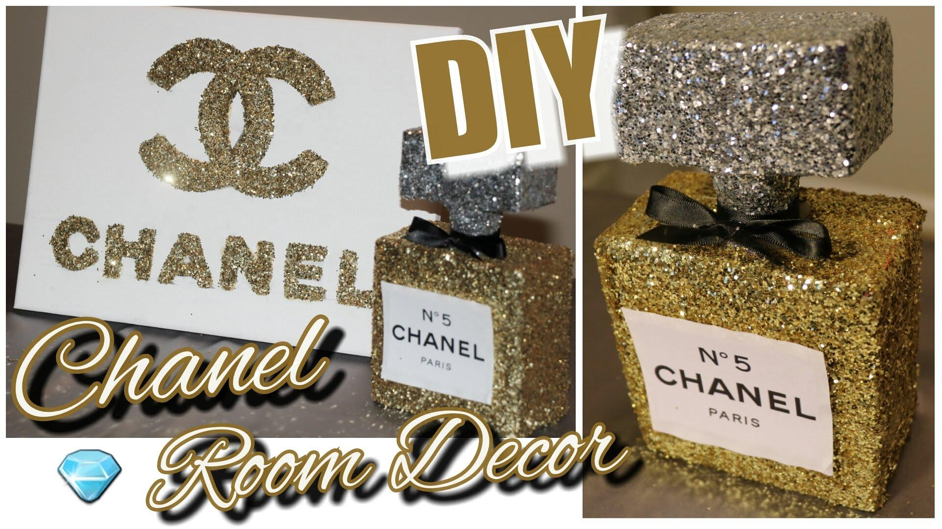 Diy Chanel Perfume Bottle Room Decor & Chanel Canvas Wall Decor Inside Chanel Wall Decor (Image 10 of 20)