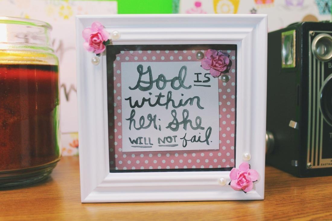 Diy Cute Framed Bible Verse – Little Faith Blog With Bible Verses Framed Art (View 18 of 20)