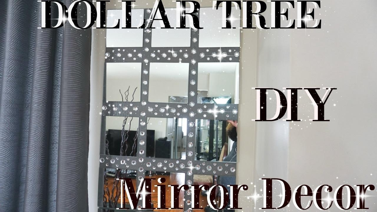 Diy Dollar Tree Bling Mirror Wall Art Decor | Petalisbless? – Youtube Pertaining To Diy Mirror Wall Art (Image 8 of 20)