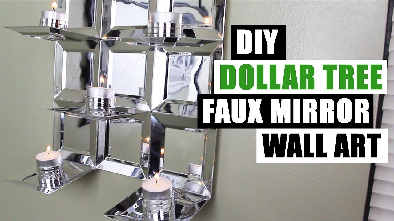 Diy Dollar Tree Glam Faux Mirror Wall Art Candle Holder Easy Z Within Diy Mirror Wall Art (View 12 of 20)
