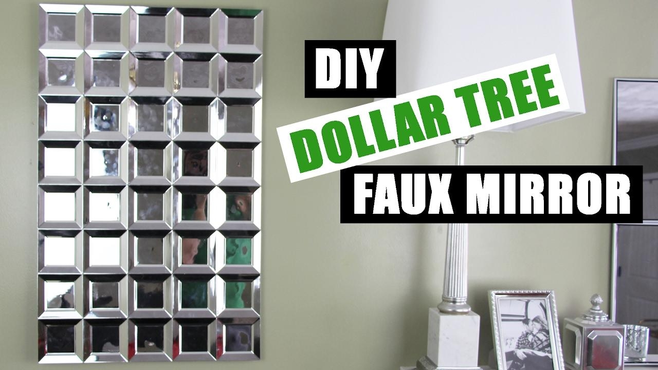 Diy Dollar Tree Glam Faux Mirror Wall Art | Easy Z Gallerie For Diy Mirror Wall Art (Image 9 of 20)