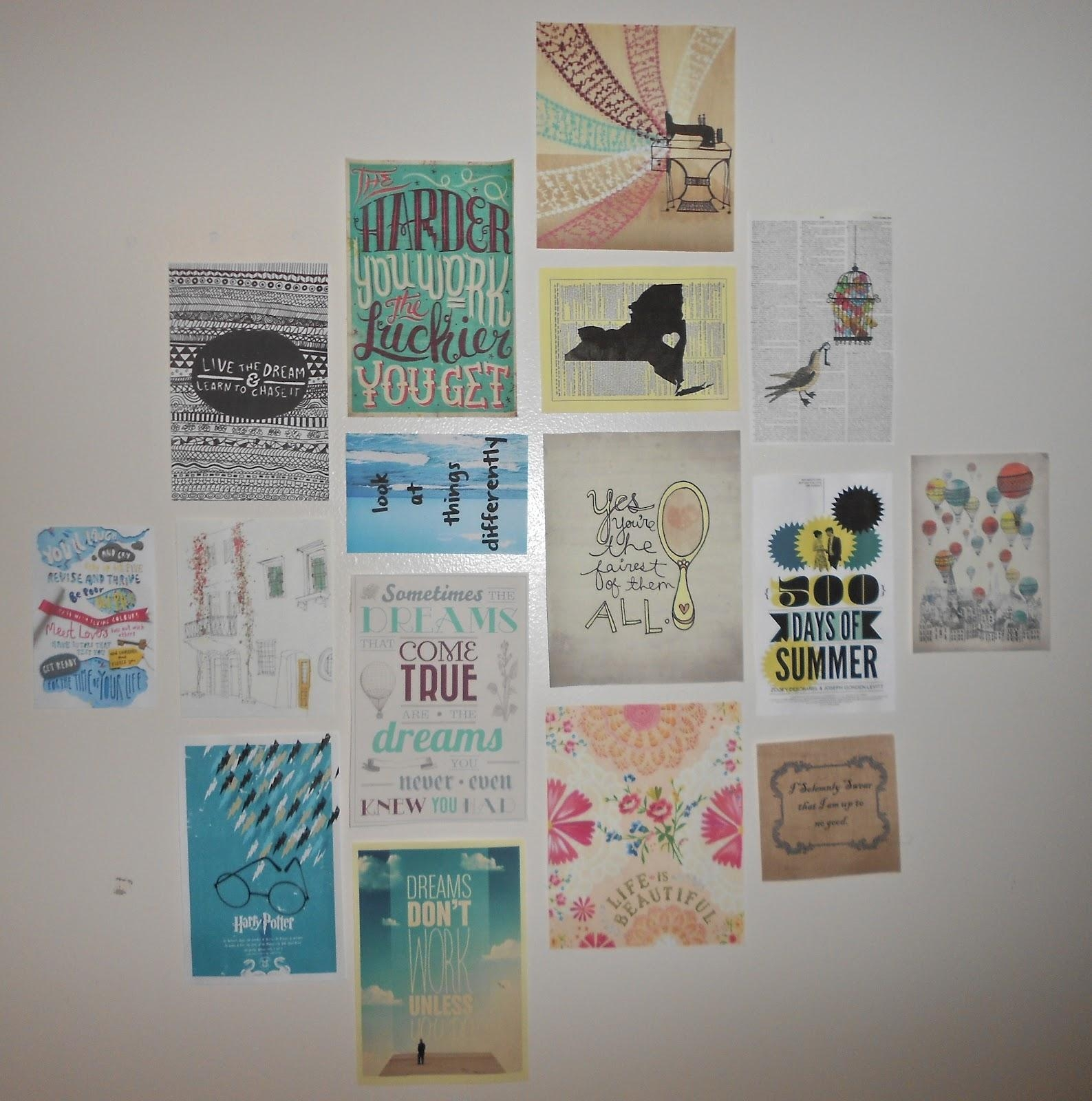 Diy Dorm Wall Decor : Dorm Wall Décor: Steps For Making Beautiful Throughout College Dorm Wall Art (Image 12 of 20)