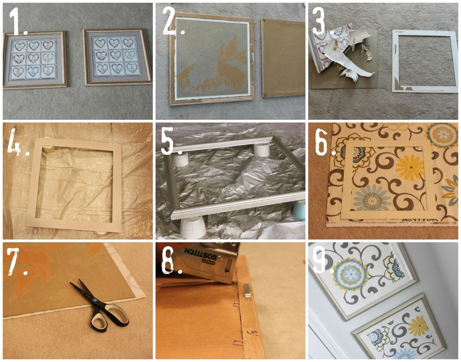 Diy Fabric Art – Househoff Inside Fabric Wall Art (Image 5 of 20)