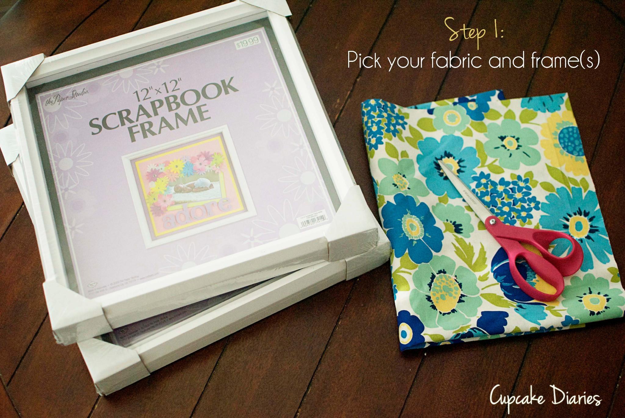 Diy Fabric Wall Art – Cupcake Diaries For Fabric Wall Art (Image 7 of 20)