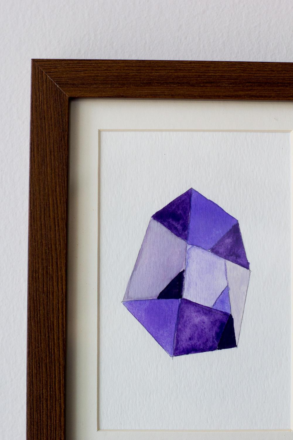 Diy Faceted Gemstone Wall Art — Wandeleur Inside Gemstone Wall Art (Image 8 of 20)