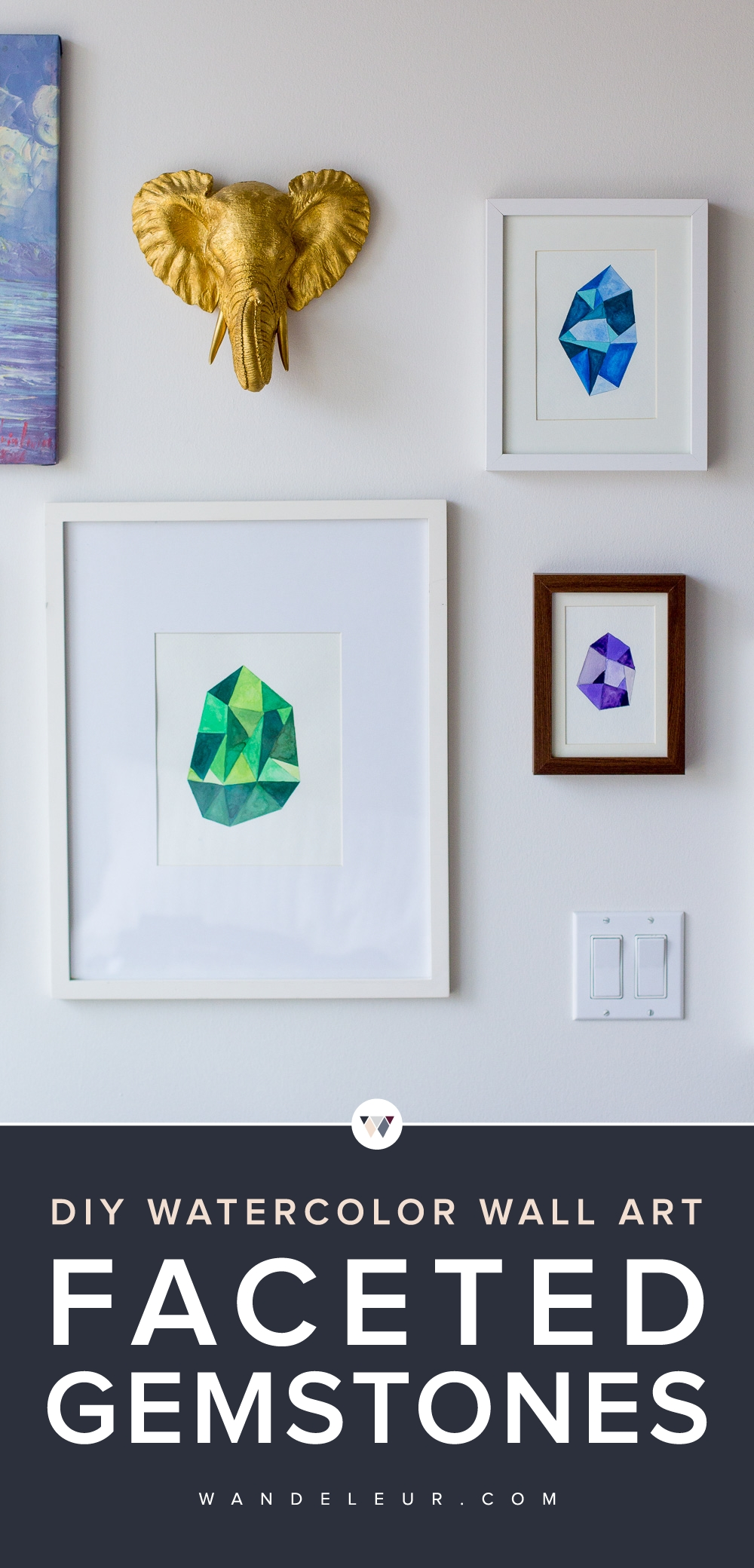 Diy Faceted Gemstone Wall Art — Wandeleur With Regard To Gemstone Wall Art (Image 9 of 20)