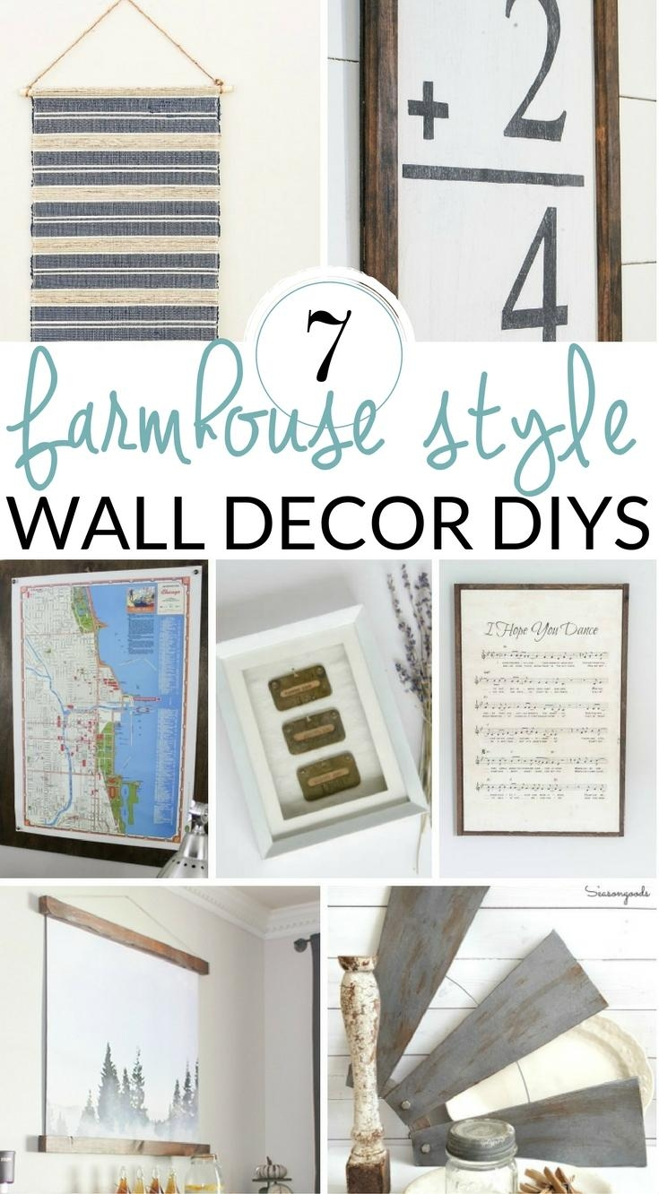 Diy Farmhouse Wall Decor Inspiration – The Crazy Craft Lady With Regard To Farmhouse Wall Art (View 13 of 20)
