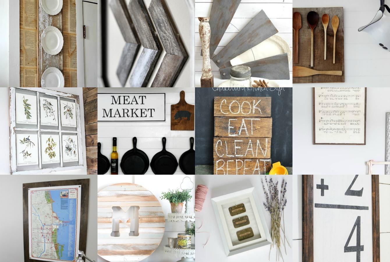 Diy Farmhouse Wall Decor Inspiration – The Crazy Craft Lady Within Farmhouse Wall Art (Image 10 of 20)