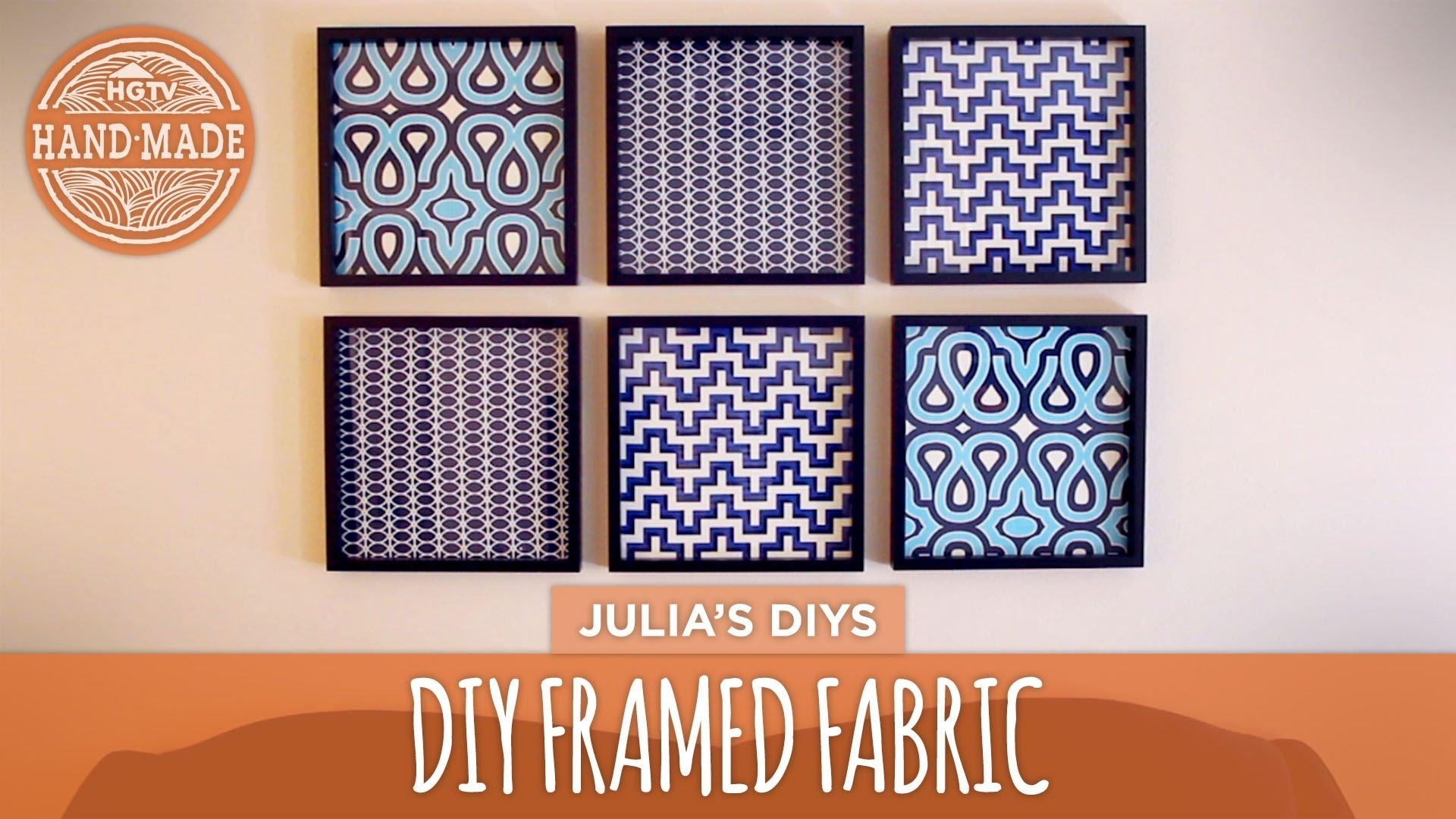 Featured Image of Framed Fabric Wall Art