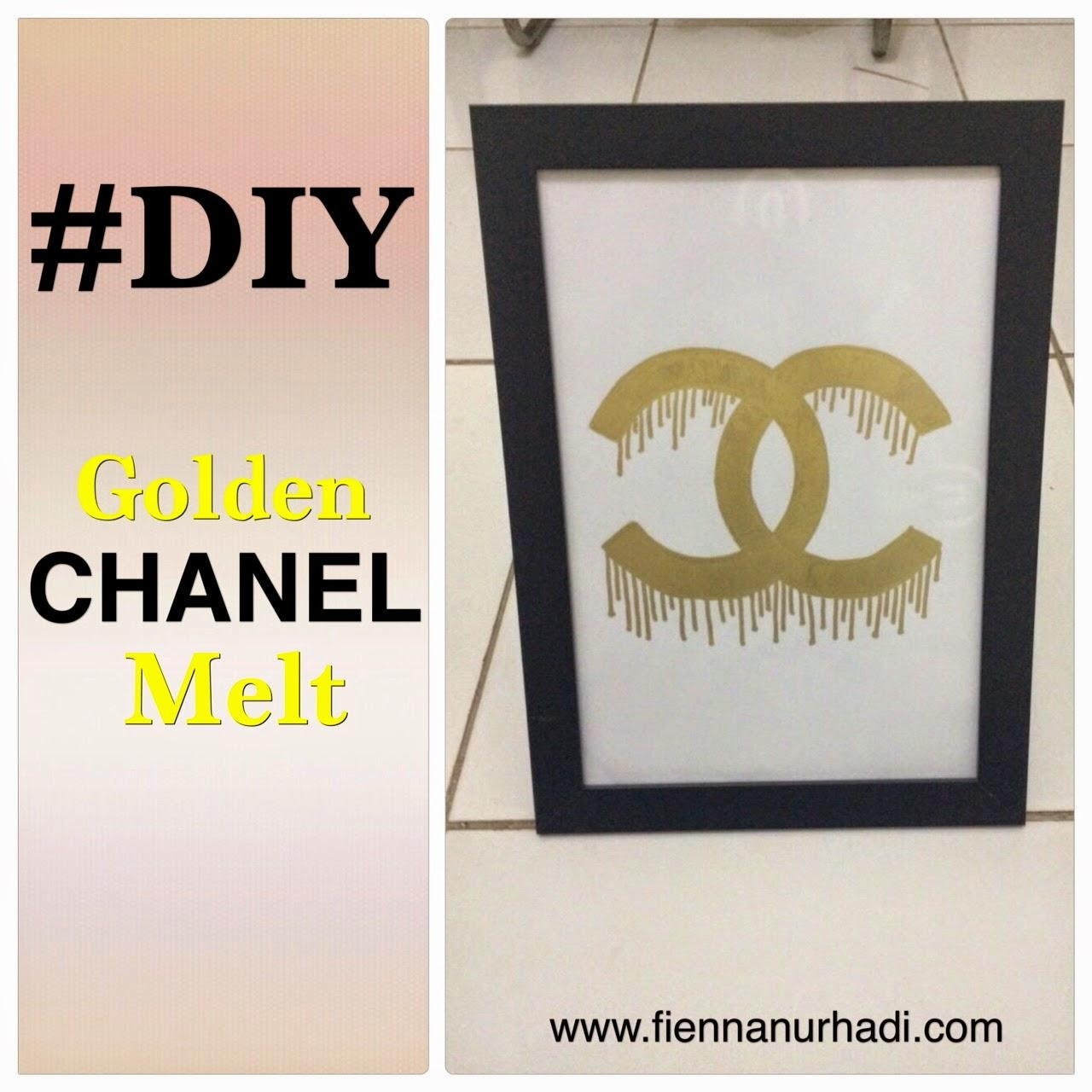 Diy Gold Chanel Melting Wall Decor | Fienna Nurhadi's Blog With Regard To Chanel Wall Decor (Image 11 of 20)