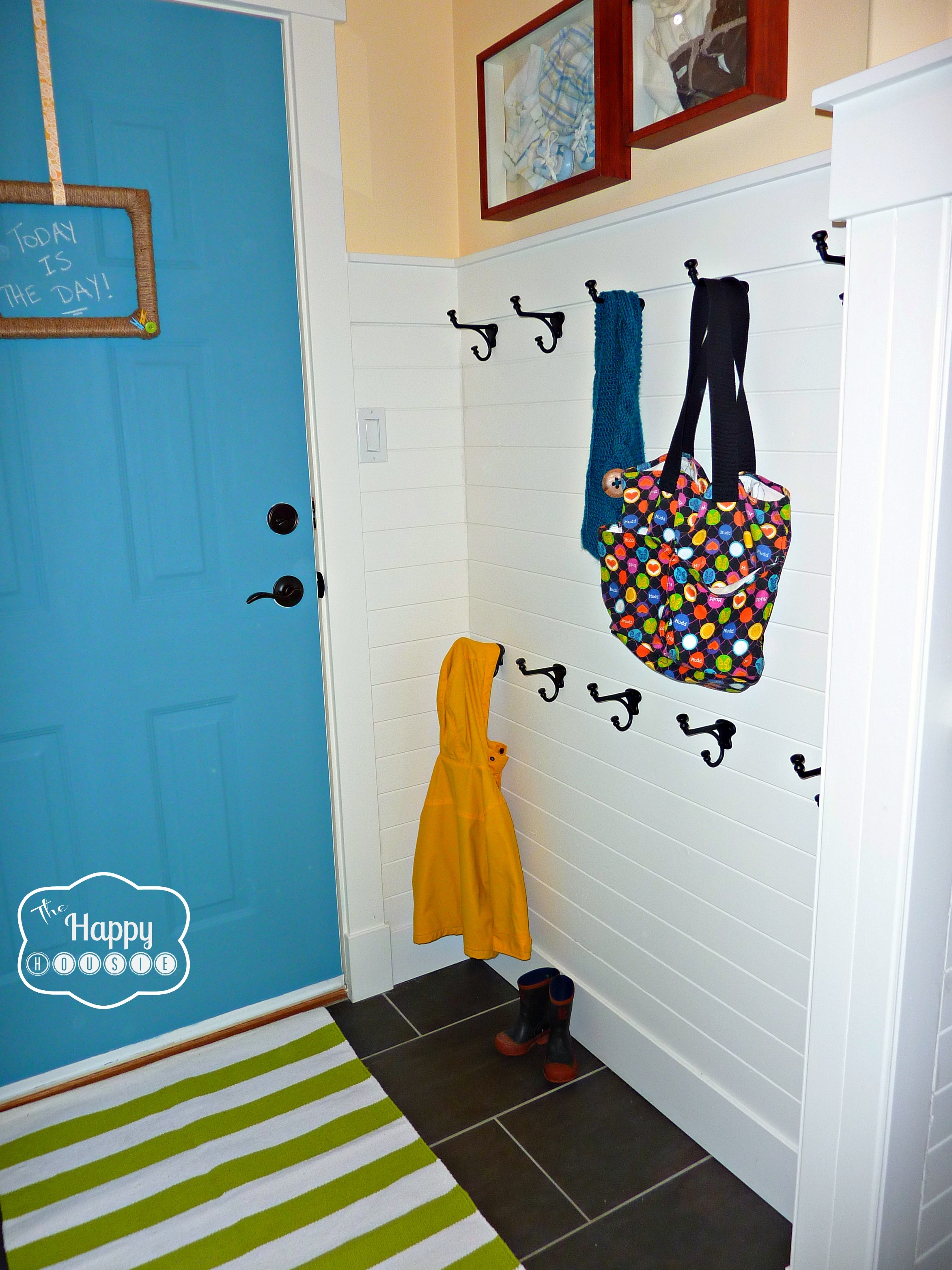 Diy Hang It Up!: A Hook Hanging How To | The Happy Housie Inside Wall Art Coat Hooks (Image 10 of 20)