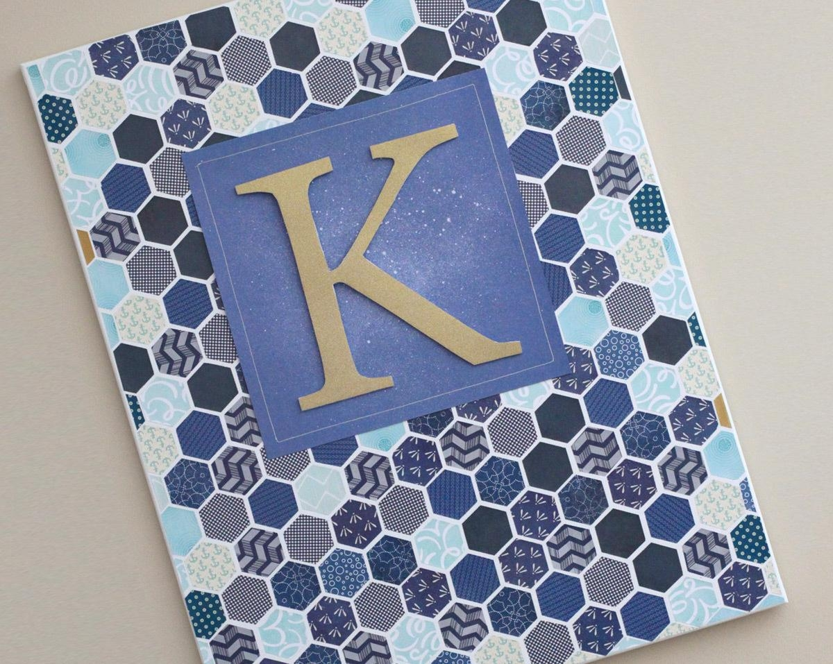 Diy Hexagon Wall Art With Stretched Fabric Wall Art (View 17 of 20)