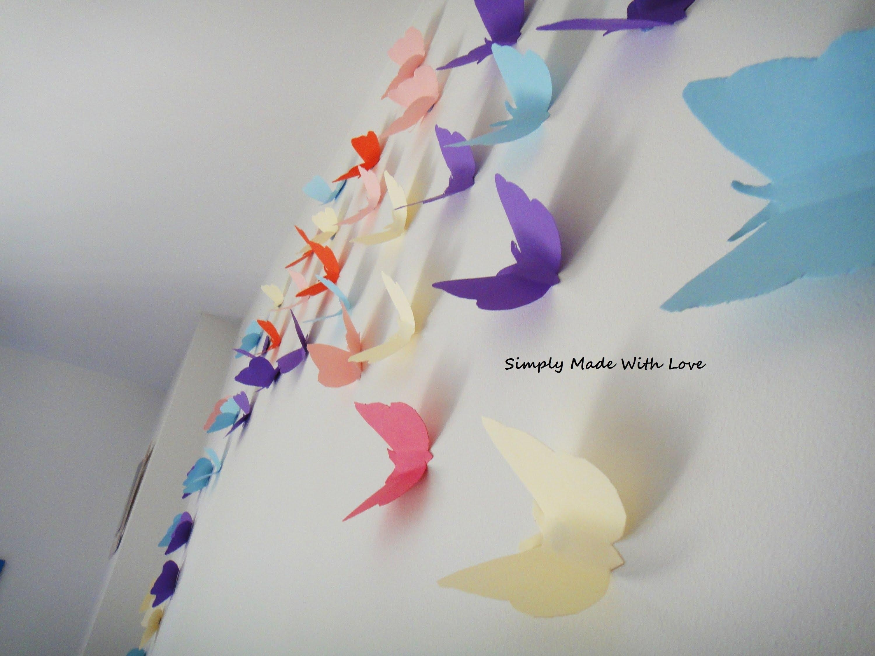 Diy How To Make Beautiful, Cheap And Easy, 3D Wall Decoration With With Regard To 3D Paper Wall Art (Image 10 of 20)