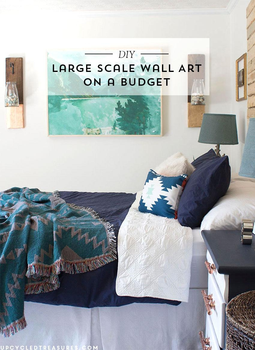 Diy Large Scale Wall Art | Mountain Modern Life For Large Inexpensive Wall Art (Image 11 of 20)