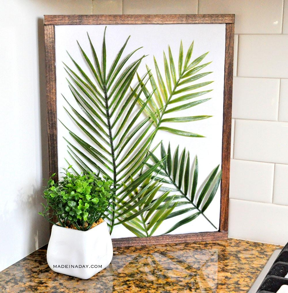 Diy Minimal Framed Palm Wall Art | Made In A Day In Palm Leaf Wall Art (View 18 of 20)