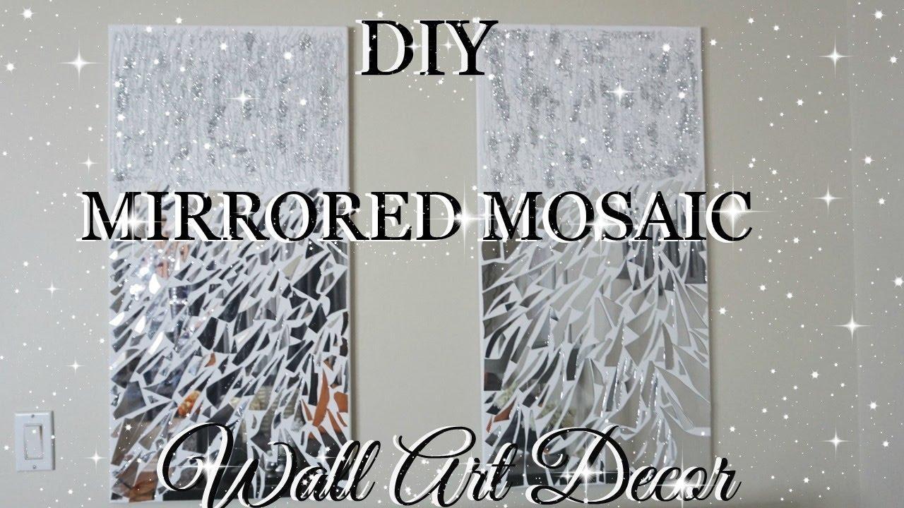 Diy Mirror Mosaic Wall Art Pier One Inspired | Petalisbless Throughout Diy Mirror Wall Art (View 4 of 20)