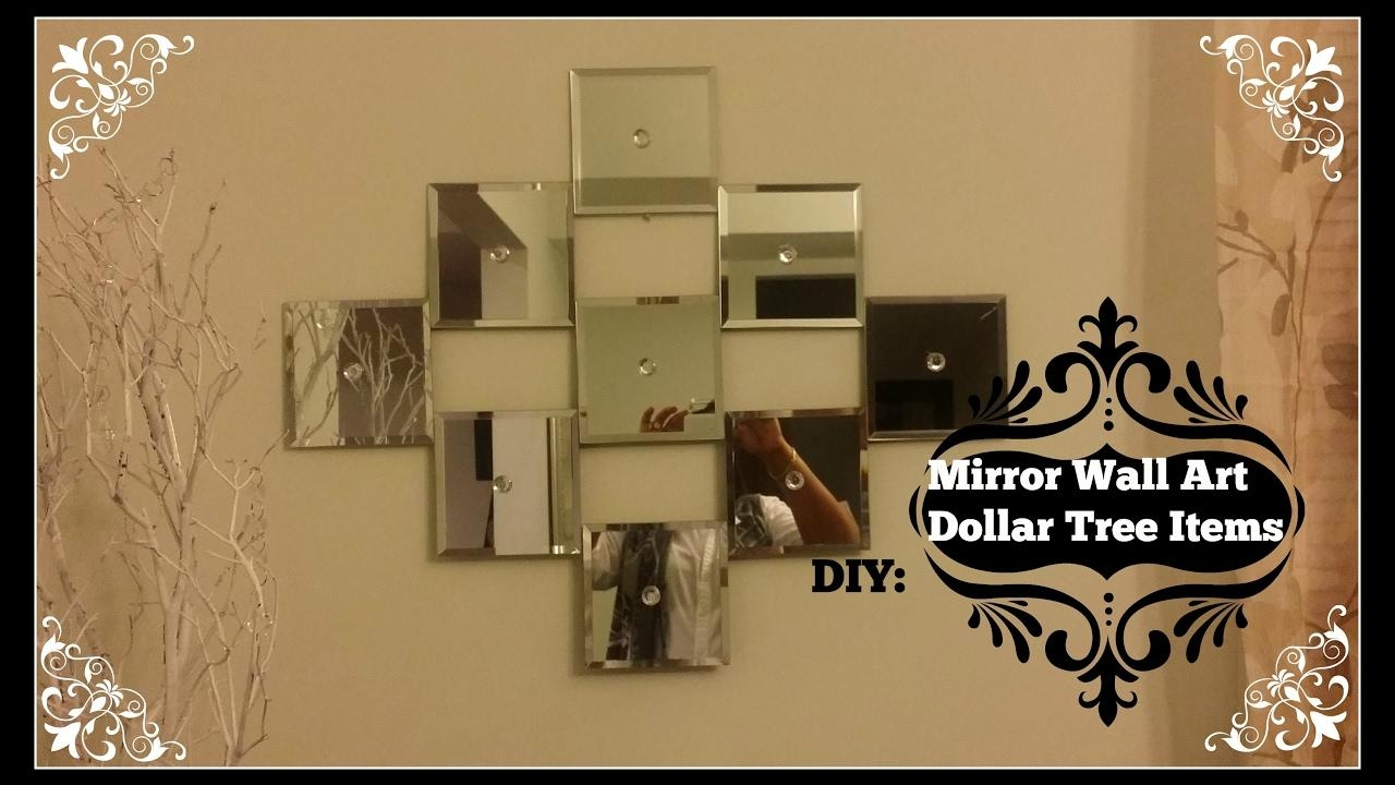 Diy: Mirror Wall Art ~ Dollar Tree Mirrors – Youtube With Regard To Diy Mirror Wall Art (Image 16 of 20)