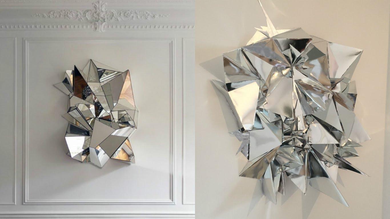 Diy Mirrored Geometric Mosaic Wall Art – Youtube Within Diy Mirror Wall Art (View 3 of 20)