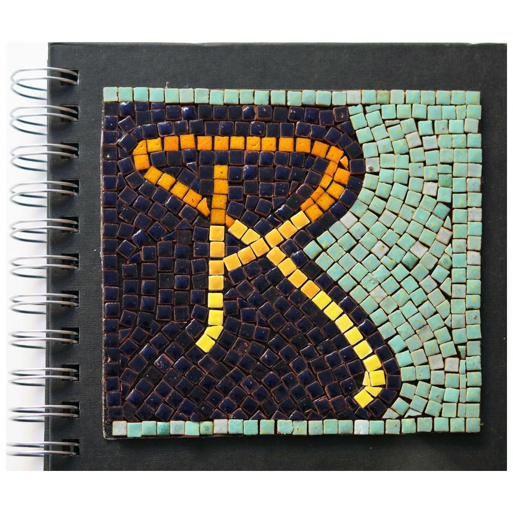 Diy Mosaic Kit: Art Nouveau Lettering Mosaic Pattern For Mosaic Art Kits For Adults (Image 12 of 20)
