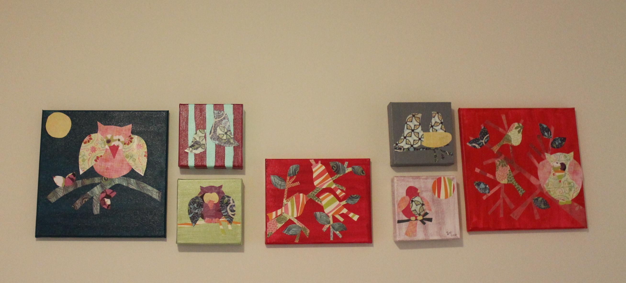 Diy Nursery Art: Bird & Owl Canvas Art Pertaining To Nursery Canvas Art (View 12 of 20)
