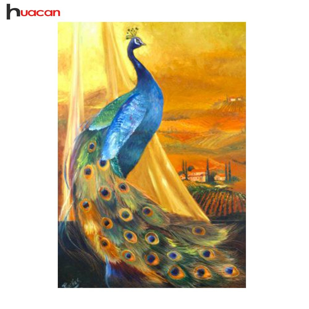 Diy Peacock Diamond Embroidery Needlework Crafts Gift 5D Within Mosaic Wall Art Kits (View 4 of 20)