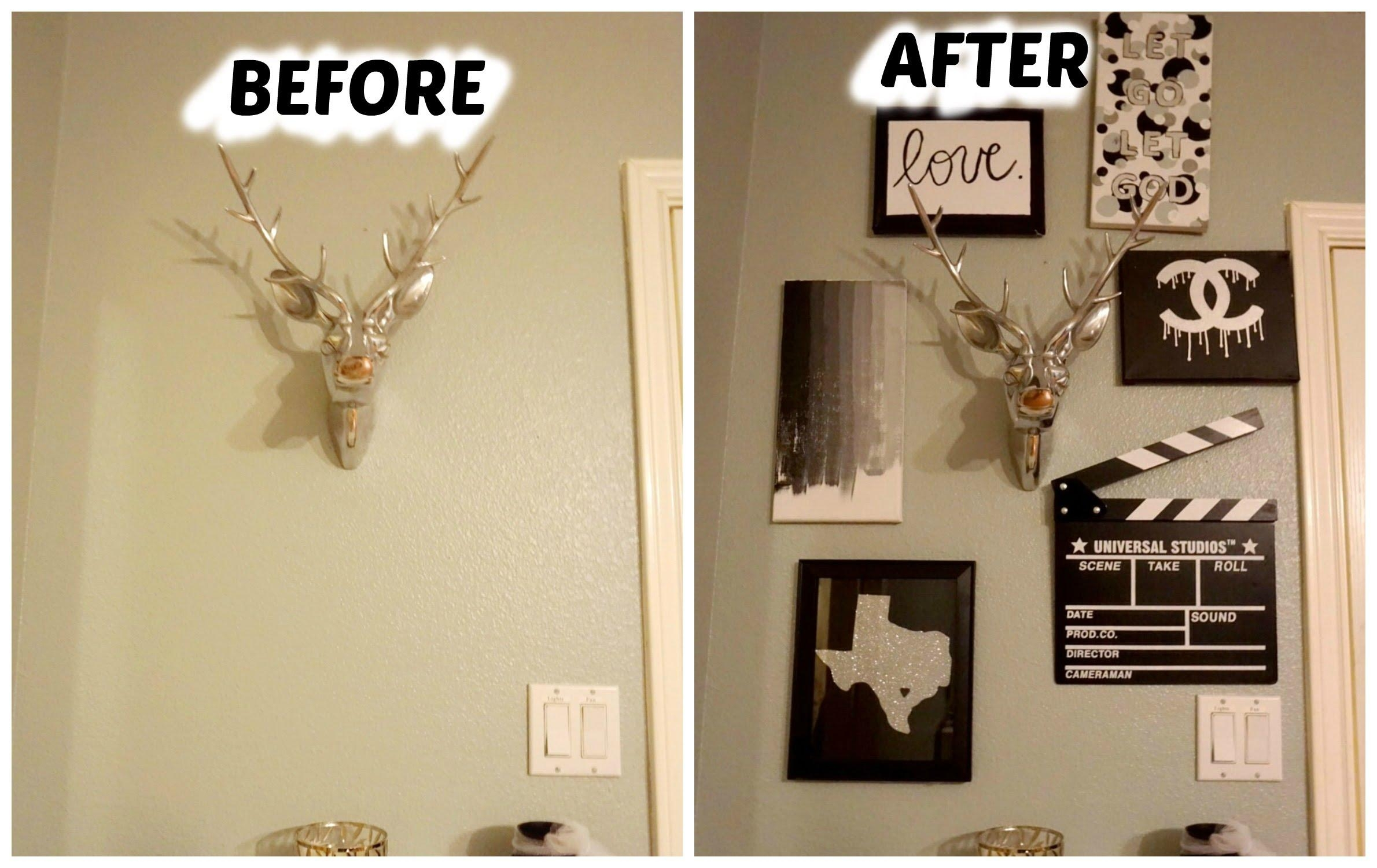 Diy Pinterest Wall Decor – Youtube Regarding Pinterest Diy Wall Art (View 8 of 20)