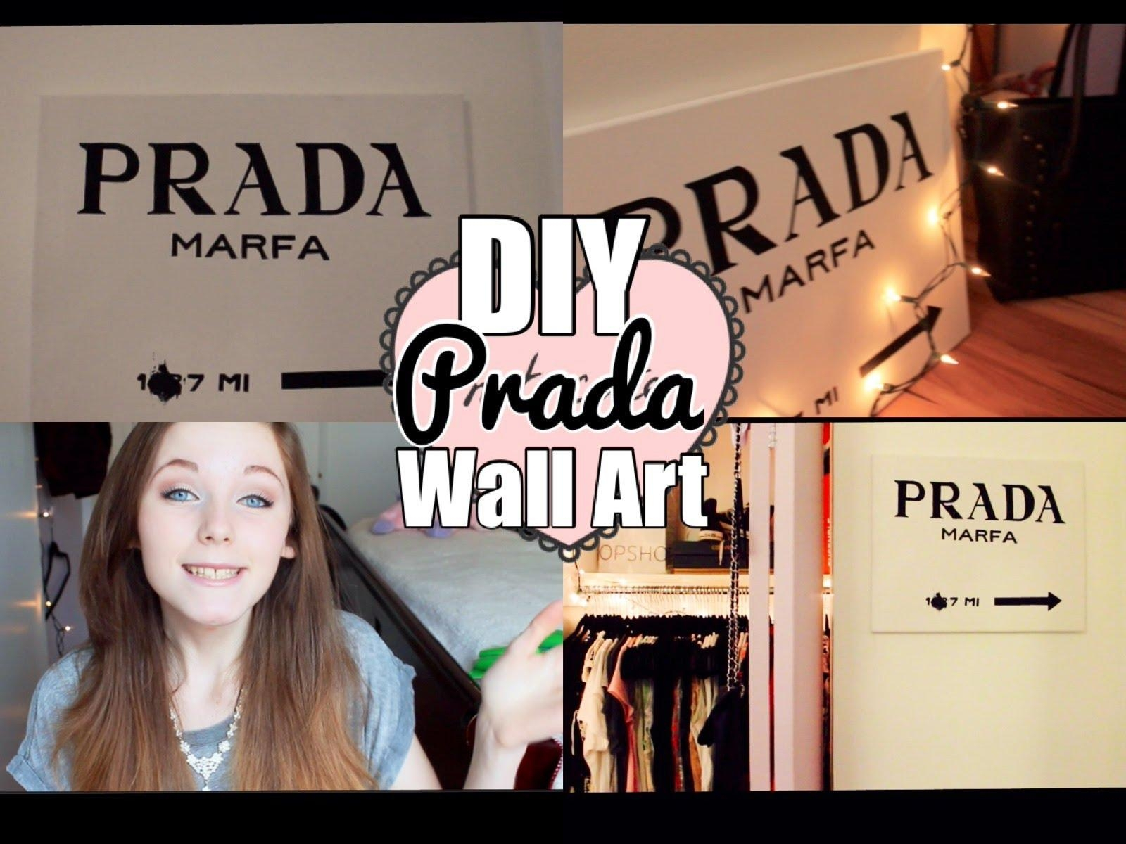 Diy Prada Wall Art ♡ – Youtube Inside Prada Wall Art (Image 4 of 20)