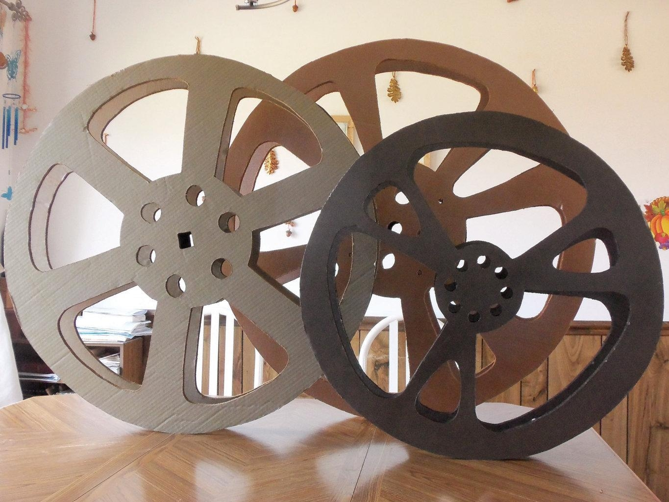 Diy Project: Film Reel Wall Decoration | Mlive For Film Reel Wall Art (Image 8 of 20)