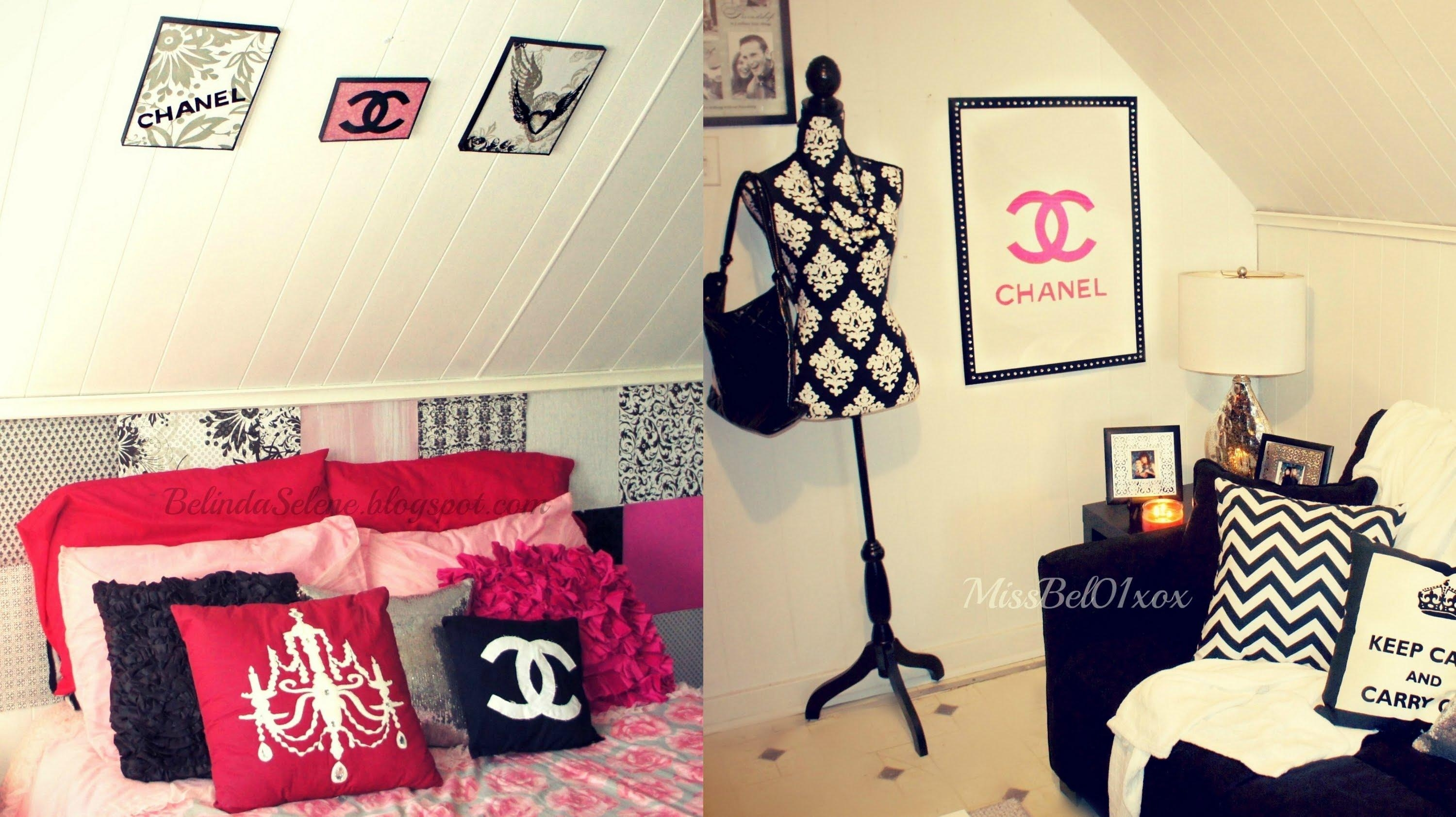 Diy Room Decor: Wall Art – Missbel01Xox – Youtube Pertaining To Chanel Wall Decor (Image 13 of 20)