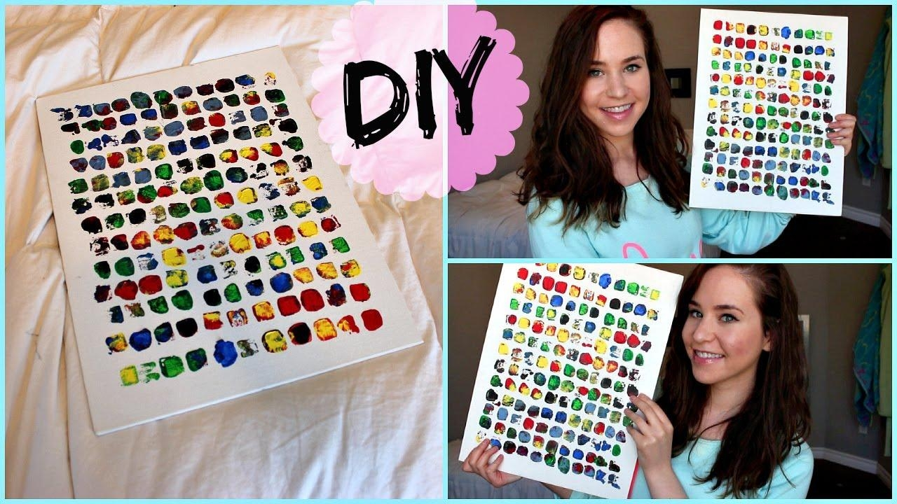 Diy Room Decor: Wall Art – Youtube With Wall Art For Teens (Image 8 of 20)