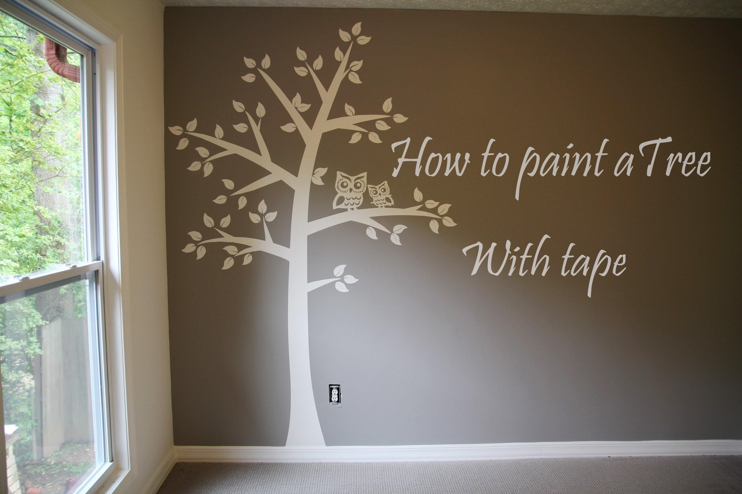 Diy Textured Wall Art With Frogtape C3 A2 C2 Ae Texturedsurface A In Painted Trees Wall Art (Image 10 of 20)