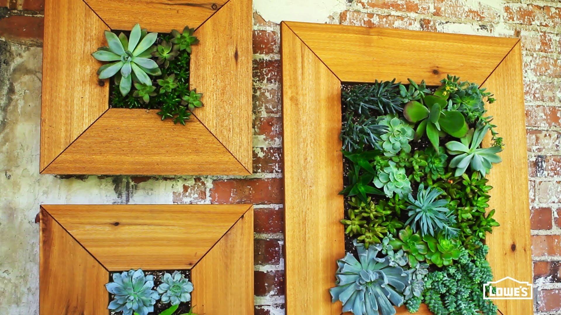 Diy Vertical Succulent Garden – Youtube Throughout Diy Garden Wall Art (Image 12 of 20)