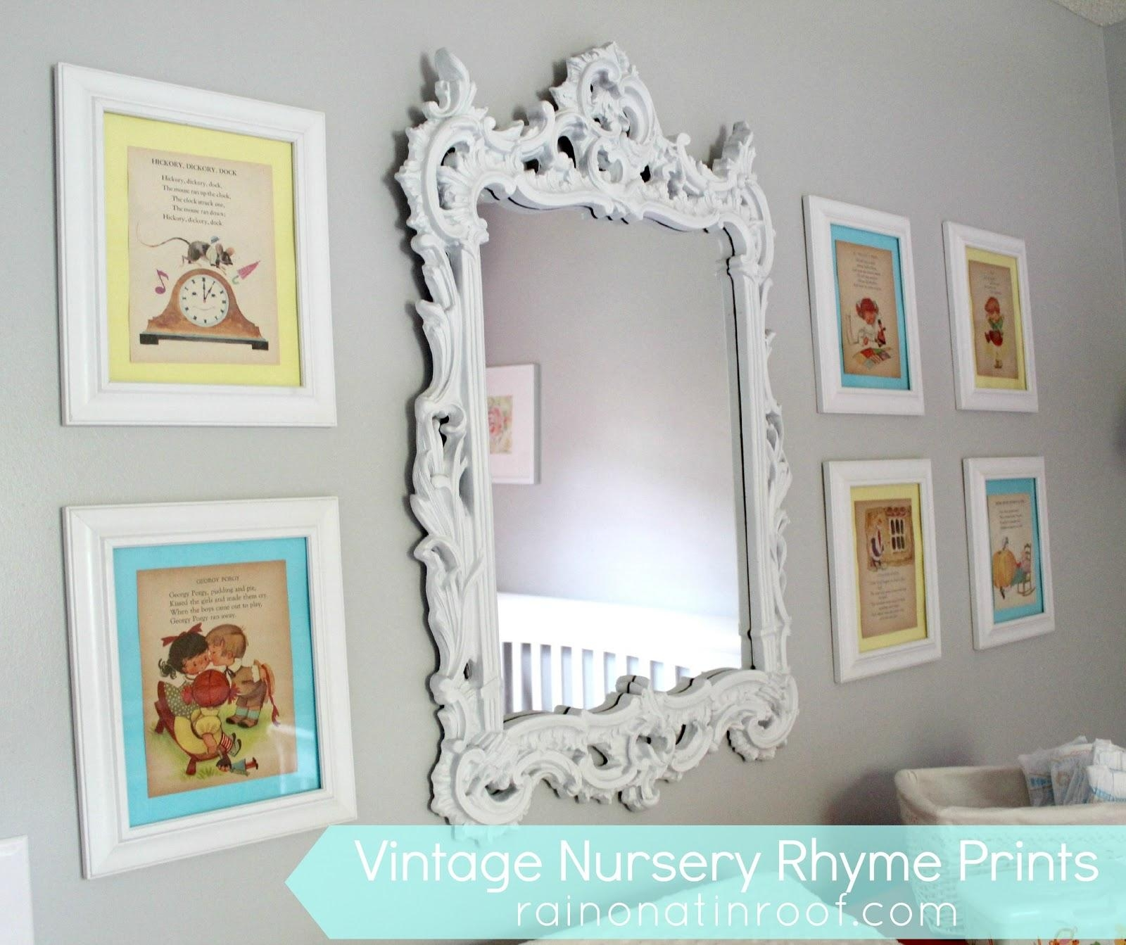 Diy Vintage Nursery Rhyme Prints: Simple & Cheap With Regard To Nursery Framed Wall Art (View 11 of 20)