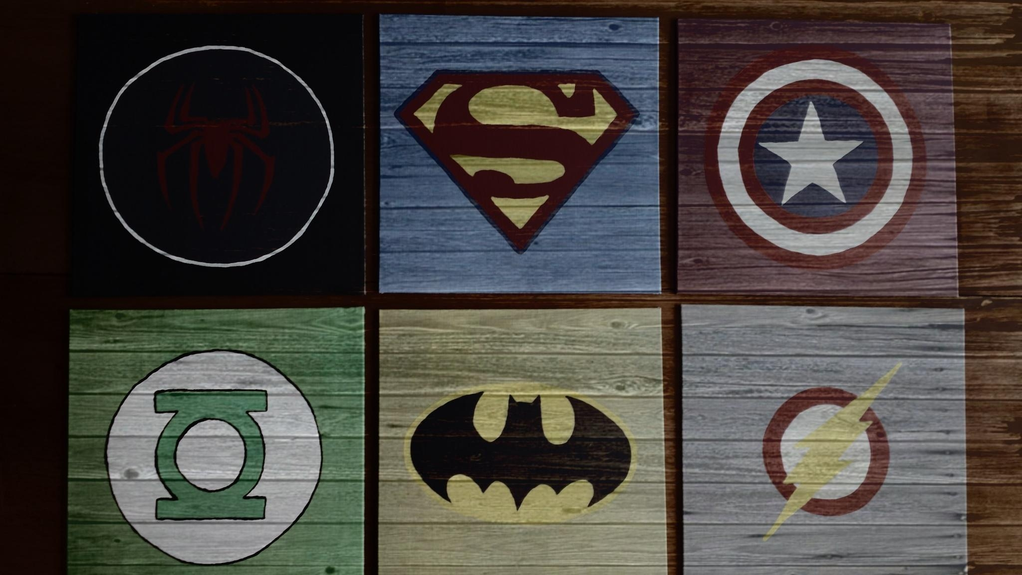 Diy Wall Art For Boys  Superhero Logos | Pinterest Inspiration With Superhero Wall Art For Kids (Image 4 of 20)