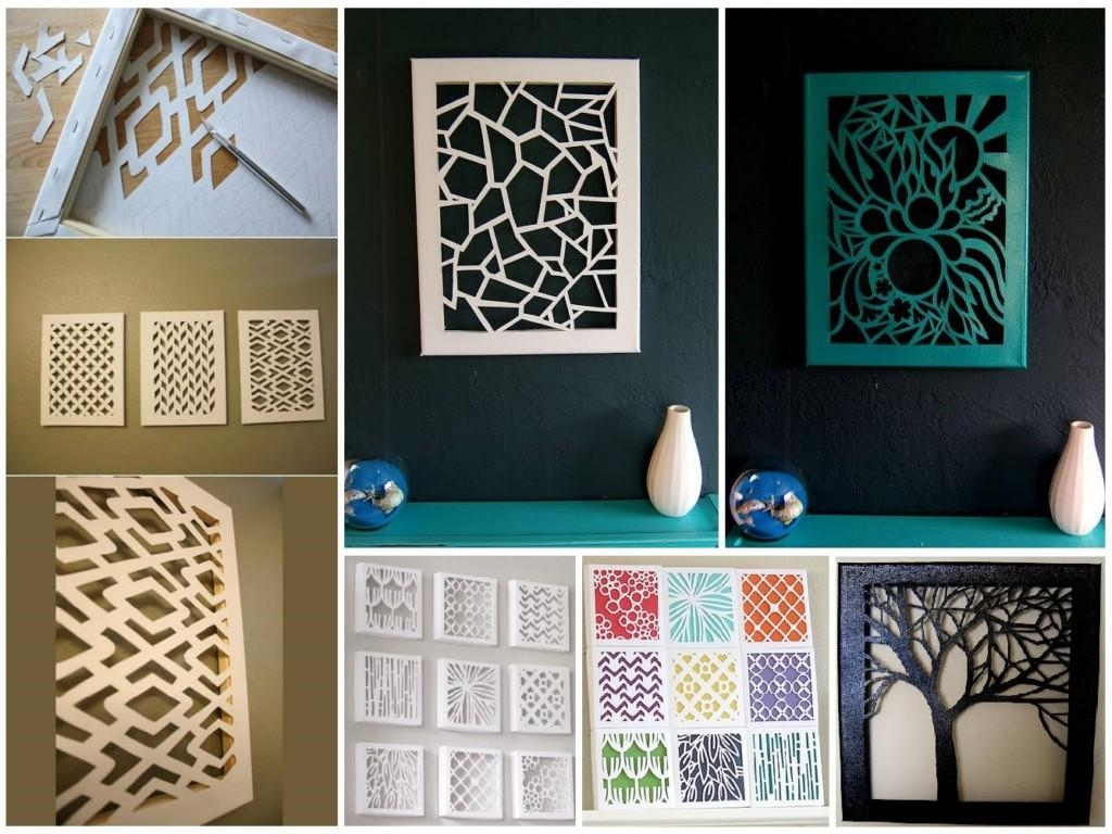 Diy Wall Art On Canvas : Easy Creative Diy Wall Art Ideas For In Cheap Wall Art And Decor (Image 16 of 20)